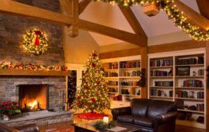 how to hang christmas lights inside