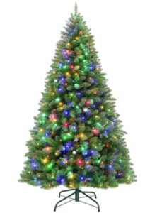 best artificial prelit christmas trees with changing colors