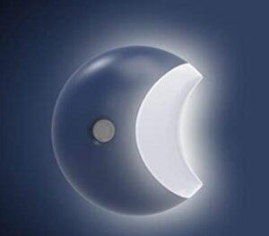 moon shaped night light