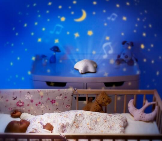 night light projector with music for baby