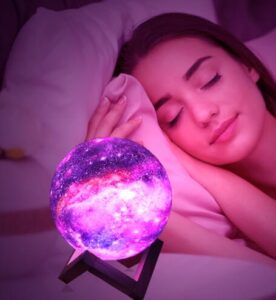 led moon night light with RGB colors