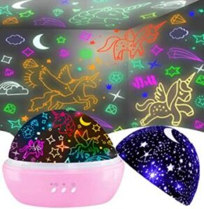 moon and stars night light projector