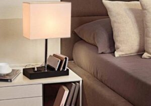 height of bedside table lamps